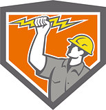 Electrician Wield Lightning Bolt Side Crest