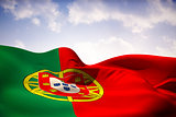 Portugal flag waving
