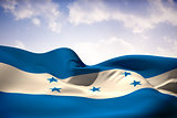 Honduras flag waving