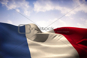France flag waving