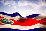 Costa rica flag waving