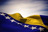 Bosnia flag waving