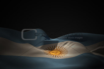 Argentina flag waving
