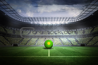 Bright green and yellow football