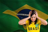 Upset football fan in brasil tshirt