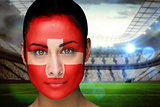 Beautiful swiss fan in face paint