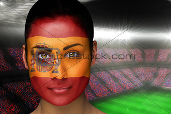 Beautiful spain fan in face paint