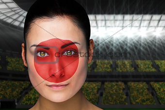 Beautiful japan fan in face paint