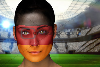 Beautiful germany fan in face paint