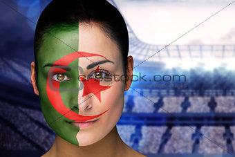Beautiful iran fan in face paint