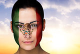Beautiful brunette in mexico facepaint