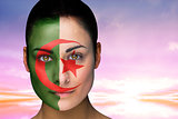 Beautiful brunette in algeria facepaint