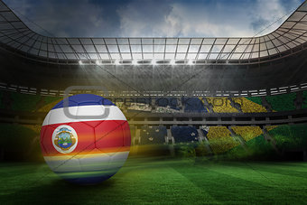 Football in costa rica colours