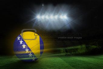 Football in bosnia and herzegovina colours