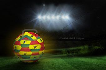 Football in ghana colours