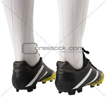 Close up of football boots