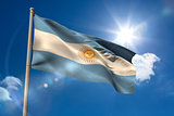 Argentina national flag on flagpole