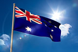 Australia national flag on flagpole