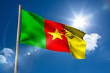 Cameroon national flag on flagpole