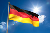 Germany national flag on flagpole