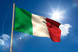 Italy national flag on flagpole
