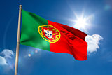 Portugal national flag on flagpole