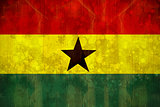 Ghana flag in grunge effect