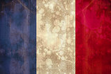France flag in grunge effect