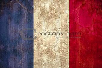 France flag in grunge effect