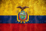 Ecuador flag in grunge effect