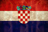 Croatia flag in grunge effect