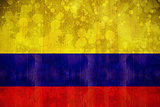 Colombia flag in grunge effect
