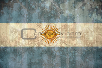 Argentina flag in grunge effect