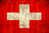 Switzerland flag in grunge effect