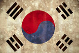 Korea republic flag in grunge effect