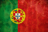 Portugal flag in grunge effect
