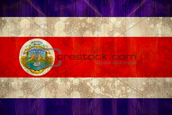 Costa rica flag in grunge effect