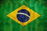 Brazil flag in grunge effect