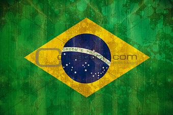 Brazil flag in grunge effect