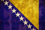 Bosnia flag in grunge effect