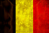 Belgium flag in grunge effect