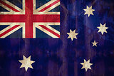 Australia flag in grunge effect