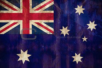 Australia flag in grunge effect