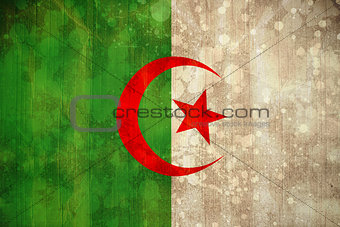 Algeria flag in grunge effect