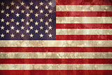 Usa flag in grunge effect
