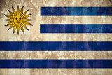 Uruguay flag in grunge effect