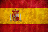 Spain flag in grunge effect