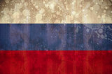 Russia flag in grunge effect