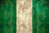 Nigeria flag in grunge effect