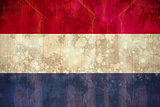 Netherlands flag in grunge effect